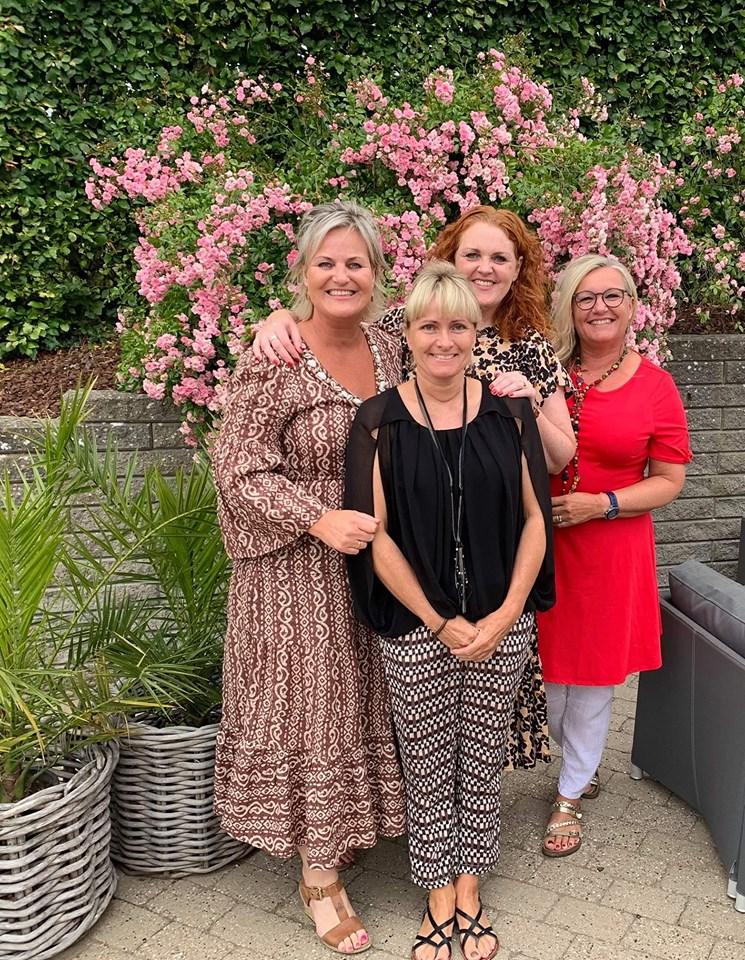 Susanne, Gitte, Ann og jeg -juli 2019